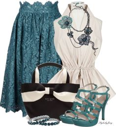"""Flowers in Teal"" by stylesbyjoey ❤ liked on Polyvore"
