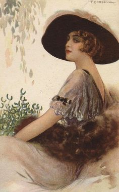 art work, illustr woman, dama elegant, histor wear, eleg ladi