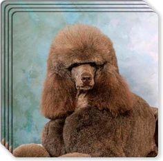 Poodle Rubber Coaster Set   eBay - serious LOLZ!