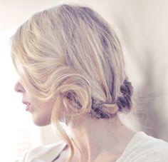 French braid low updo tutorial