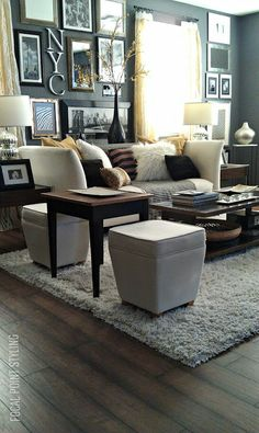 FOCAL POINT STYLING: LIVING ROOM focal point, rental hous