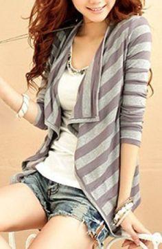 cute striped cardigan