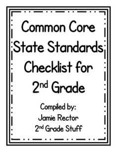 Common Core State Standards 2nd Grade Checklist {FREEBIE}