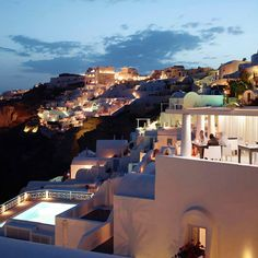 Daily Daydream! Take in the Aegean Sea from your private terrace in Santorini.