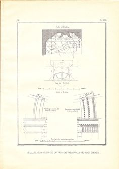 Corinthian Order Drawing Architecture Modillon by carambas on Etsy, $16.00