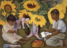 Diego Rivera (1886 – 1957, Mexican) - Sunflowers, 1943
