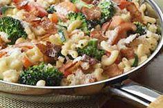 creamy bacon broccoli pasta