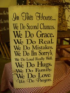 In This House We Do Verse Wood Sign