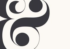 An ampersand in black.
