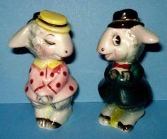 VTG 1950s Anthropomorphic DONKEY MULE BURRO SALT & PEPPER Shaker PY NAPCO Japan