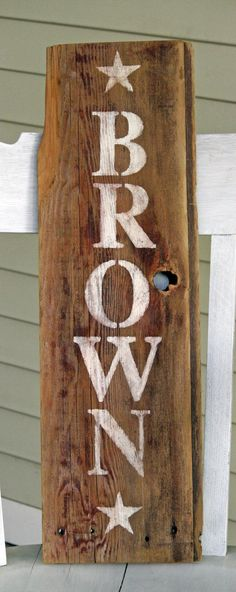 Personalized barn wood name sign. by CoraBelles on Etsy