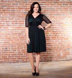 Avery Mesh Dress @ www.kiyonna.com