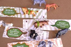 Valentine animal bookmarks