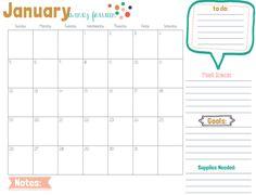 calendar print, blog planner, printabl