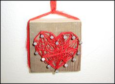 mama, string heart, string crafts, muse, kids arts and crafts wood, string art, art heart, kid crafts, art projects