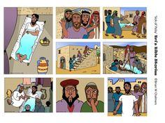 man printabl, children church, bibl stori, paralyz man, bear hugs, awana cubbi, coloring sheets, bibl class, jesus heal