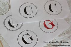 Free printable banners with many choices and styles