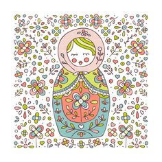 Matryoshka Russian Doll Print