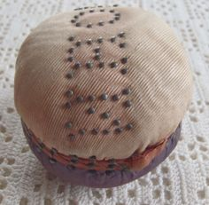 Antique Christening/Birth Pin Cushion John