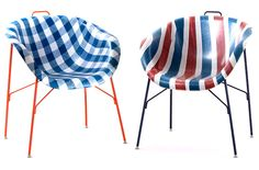 euphoria chair in checked and stripes; http://remodelista.com/posts/chairs-with-a-sense-of-euphoria