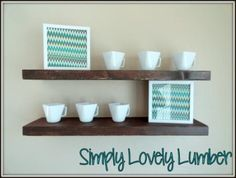 Floating Shelves   Do It Yourself Home Projects from Ana White