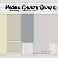 ID | Modern Country Paint seamless textures includes moulded walls with skirting, coving and wood panel Insight Designs