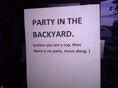 Cops Move Along.