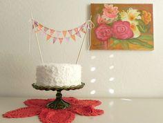 #fabric, #cake, #bunting