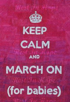 Keep Calm decoupage art for March of Dimes