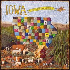 Beautiful Quilt artist - what a cool idea it would be to do something similar with the RAGBRAI route each year, and raffle it off.