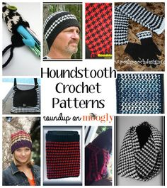 10 Free Houndstooth Crochet Patterns