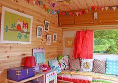 Cute camper interior.