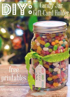 DIY Mason Jar Gift Card Holder