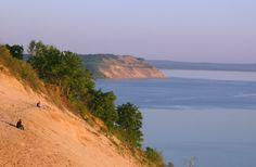 """Sleeping Bear Dunes National Park (Michigan). Voted """"Most Beautiful Place in America (2011)"""" by Good Morning America viewers!"""