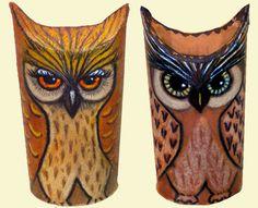 anjas-artefaktotum - toilet rolls become owls