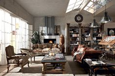 Country, vintage, industrial, loft, urban. Dialma Brown