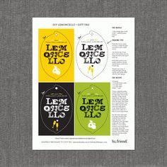 Lemoncello Labels & Recipe