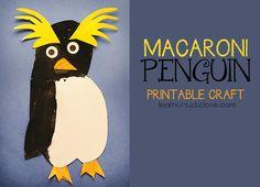 Free Printable Macaroni Penguin Craft