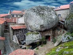 stone housing monsanto, portugal