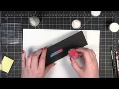 Quick Tip - Multicolor Heat Embossing by Kristina Werner