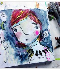 Hold On to the Moon #juliettecrane #artjournal