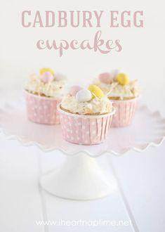 Cadbury egg cupcakes with toasted coconut...yummy!