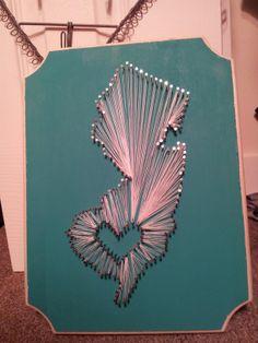 New Jersey string art.