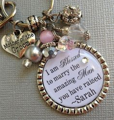 MOTHER of the GROOM gift mother of bride PERSONALIZED by buttonit, $27.50