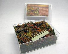 RIS FOR04  Forest-in-a-Pot - Autumn Forest Key Features:  -Each box contains 80ml of scenic scatter (for an area of appr. 15x15cm (which equates to almost 6 inches X 6 inches)  -Contains 29 different ingredients  -Suitable for all scales  -Comes in a hard plastic box