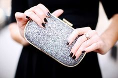 Black nails + black dress