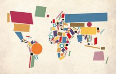 World Map Abstract Digital Art