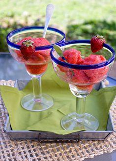 Strawberry Margarita Sorbet