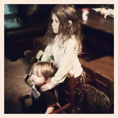 Christiana giving lil Christopher a massage. These kids crack me up.  - @foxymama923- #webstagram