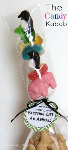 This would be a cute snack for safari day and of course a party favor.